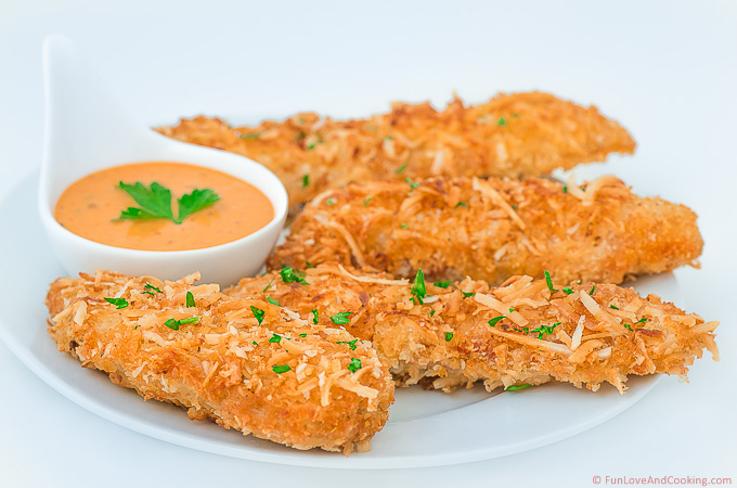 Coconut Chicken Tenders - Fun Love and Cooking