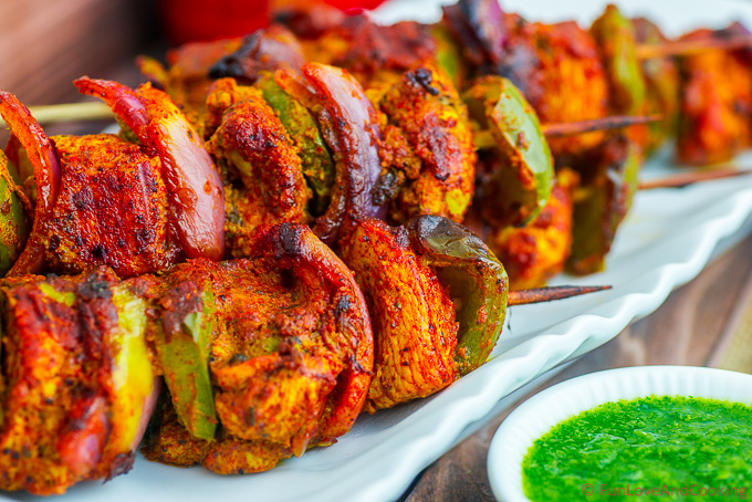 Skewered Chicken Sosaties Chicken Tikka Fun Love And Cooking